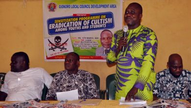 Photo of OJOKORO LG BOSS COUNSEL YOUTHS ON THE DANGER OF CULTISM.