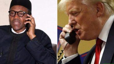 Photo of PresidentDonald Trump speaks Buhari over coronavirus