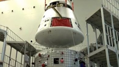 Photo of China's new spacecraft lands safely