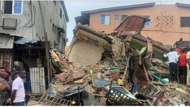 Photo of Another building collapse in Lagos, 6 rescue, 1 dead
