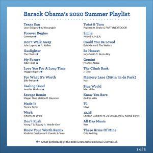 Barrack Obama, former American President listed Wizkid one of Nigerian's popular art on Barack Obama's 2020 Summer playlist