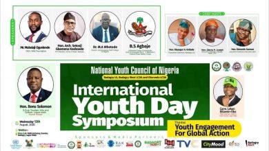 Photo of INTERNATIONAL YOUTH DAY SYMPOSIUM 2020; SAMOLA REVELS IN BADAGRY, YOUTH DISPLAY OF SYNERGY.