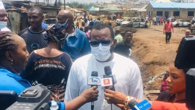 Photo of Iju Gas Explosion: Hon Temitope Adewale visits the site, commiserate with the victims and residents