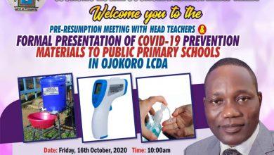 Photo of Government distributes COVID-19 preventive materials to public primary schools