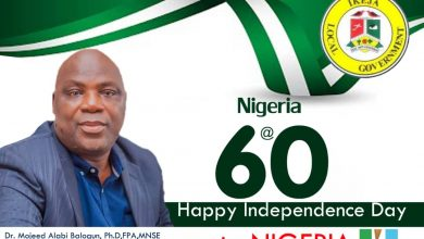 Photo of Dr. Mojeed Alabi's open letter to Nigerians for Independence celebration