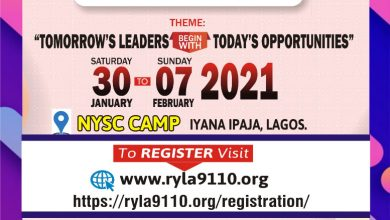Photo of RYLA 2020: Rotary District 9110 fix another date, assures super youth growth