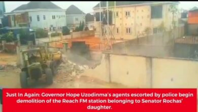 Photo of Imo Government Demolishes Radio Station Allegedly Owned By Okorocha's Daughter