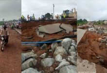 Photo of Lokoja-Kabba federal highway collapses