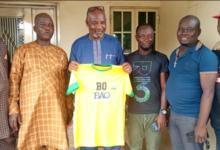 Photo of DA Faria SC Honours its majorsponsor Olabinjo, brands BAO on all team jersey