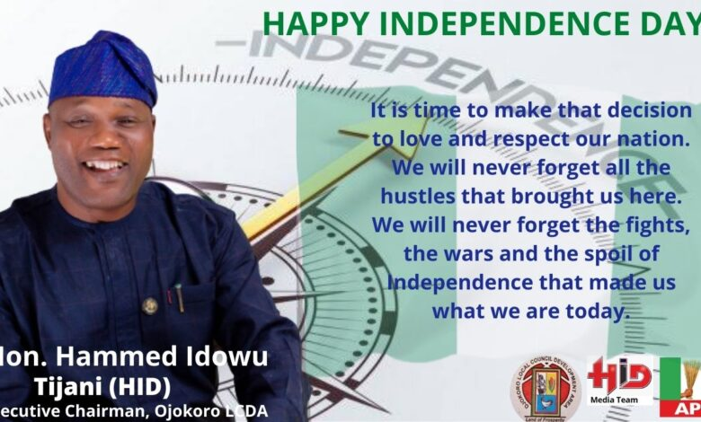 Photo of Nigeria @ 61: Let's celebrate as patriotic citizens and uphold national unity – HID Tijani